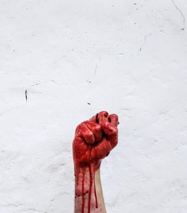 bloody fist